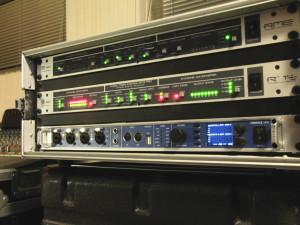 live opname mixen met behulp van mobiele opnameset
